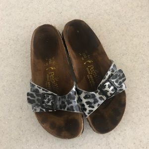 Papillo by Birkenstock leopard print sandals
